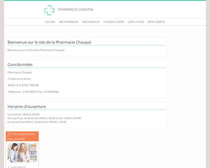 Pharmacie Chaupal - Accueil
