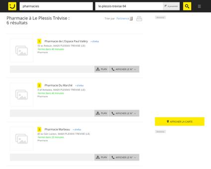 Pharmacie à Le Plessis Trévise - PagesJaunes :...