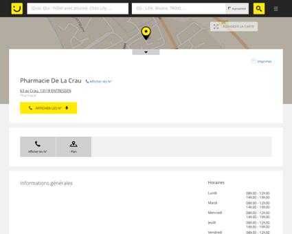 Pharmacie De La Crau Entressen (adresse,...