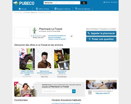 Pharmacie Le Fossat - rte Toulouse 09130 Le...