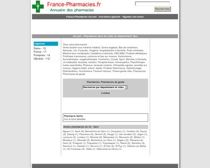 Pharmacies, pharmacie de garde - Lombez -...