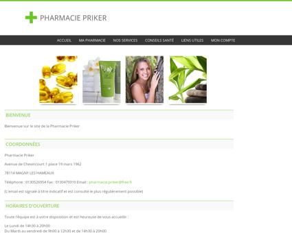 Pharmacie Priker - Accueil