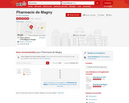 Pharmacie de Magny - Pharmacie - 9 Rue...