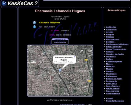 Pharmacie Lefrancois Hugues - KesKeCes: +...