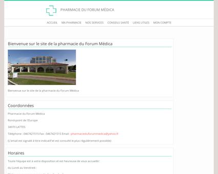 Pharmacie du Forum Médica - Accueil