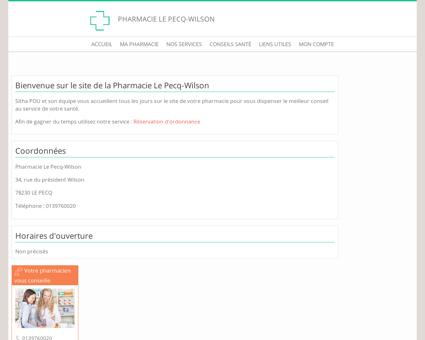 Pharmacie Le Pecq-Wilson - Accueil