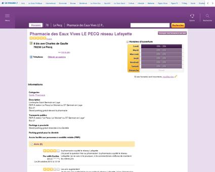 Pharmacie des Eaux Vives LE PECQ réseau...