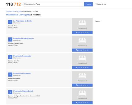 Pharmacies à Le Pecq (78230)