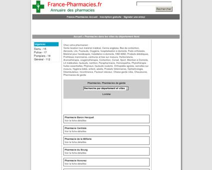 Pharmacies, pharmacie de garde - Lomme -...