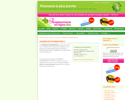 PHARMACIE PHARMAWORLD à LE PORT