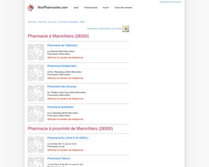 Pharmacie à Mainvilliers (28300) - Pharmacien...