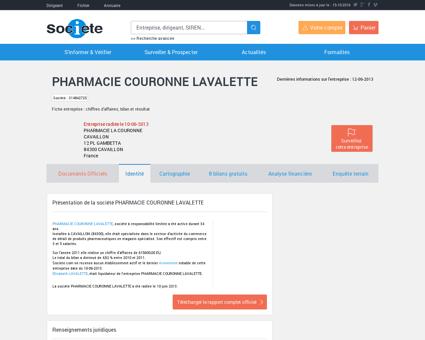 PHARMACIE COURONNE LAVALETTE...