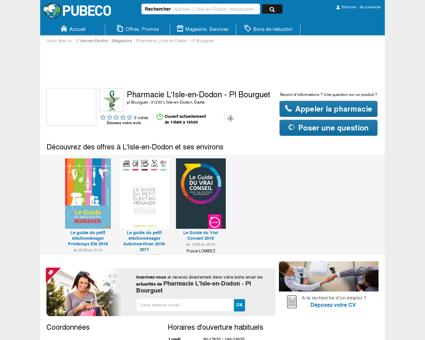 Pharmacie L'Isle-en-Dodon - Pl Bourguet - pl...