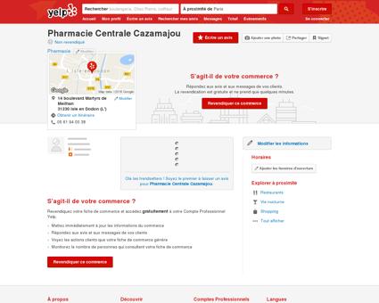 Pharmacie Centrale Cazamajou - Pharmacie -...