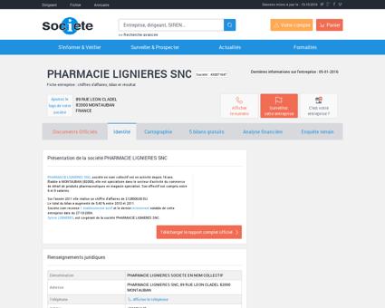 PHARMACIE LIGNIERES SNC (MONTAUBAN)...