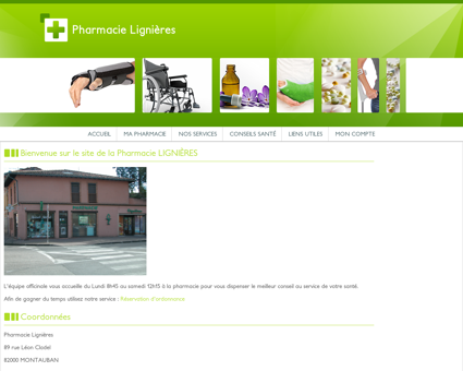 Pharmacie Lignières - Accueil