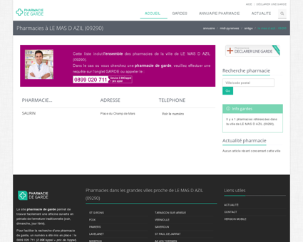 Pharmacie de garde LE MAS D AZIL (09290)