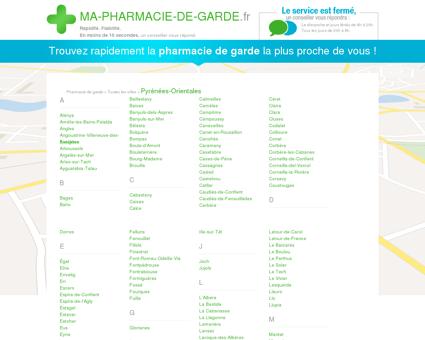 Pharmacies de garde dans le département 66 -...