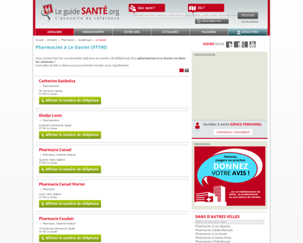 Pharmacien, Pharmacienne à Le Gosier (97190)...