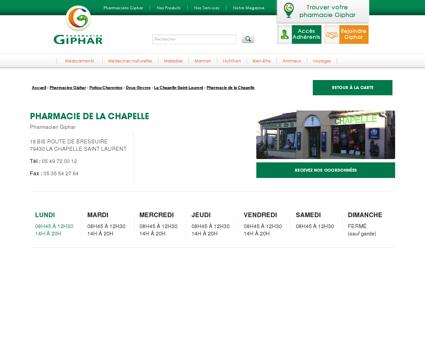 Pharmacie de la chapelle, LA CHAPELLE SAINT...