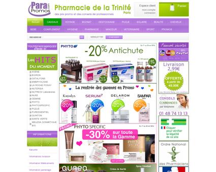 Parapromos est un site de parapharmacie et de...