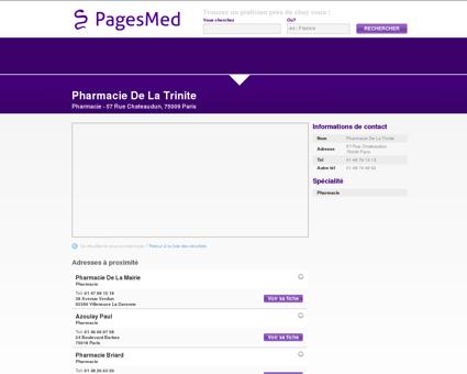 Pharmacie De La Trinite, Pharmacie à Paris...