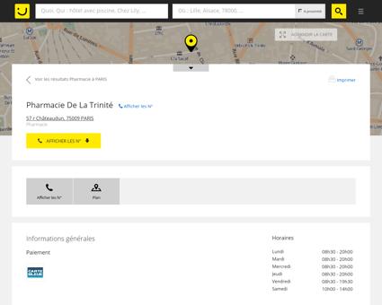 Pharmacie De La Trinité Paris (adresse, horaires)