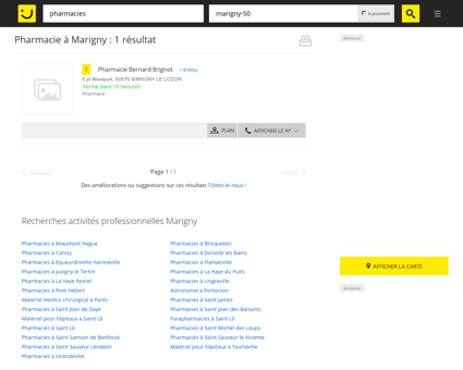 Pharmacie à Marigny - PagesJaunes : Trouvez...