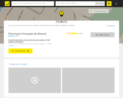 PHARMACIE PRINCIPALE DE MAREUIL...