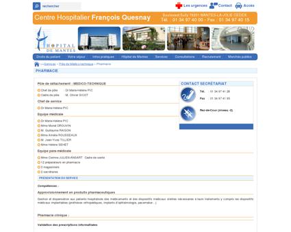 Hopital de Mantes - CH F. Quesnay | Pharmacie