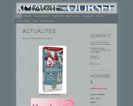 Bienvenue sur le site de la Pharmacie Oursel