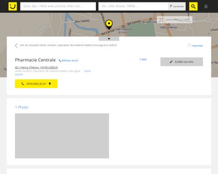 Pharmacie Centrale Lisieux (adresse, horaires,...
