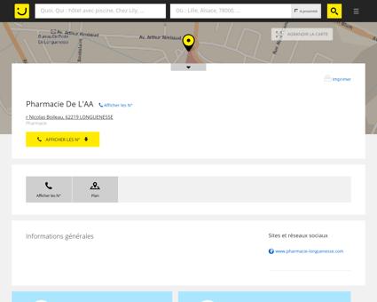 Pharmacie De L'AA Longuenesse (adresse) -...