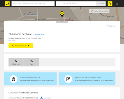 Pharmacie Centrale Le Creusot (adresse) -...