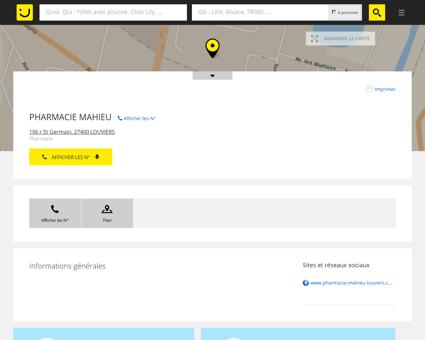 Pharmacie Mahieu Louviers (adresse) -...