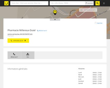 Pharmacie Millereux-Dutel Le Pontet (adresse,...