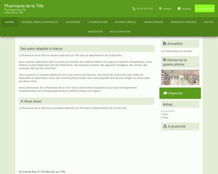 Pharmacie de la Tille - à Marcilly-sur-Tille -...