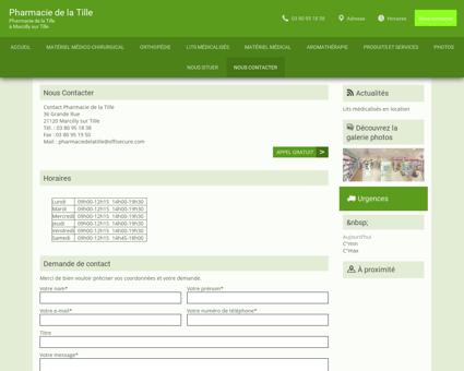Contact - Pharmacie de la Tille - à Marcilly-sur...