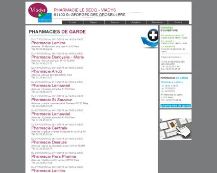pharmacies de garde   pharmacie le secq -...