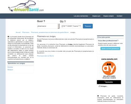 Pharmacie sur Juvigny - Pharmacies à Juvigny...