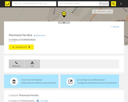 Pharmacie Ferrière Mondoubleau (adresse,...