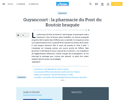 Guyancourt : la pharmacie du Pont du Routoir...
