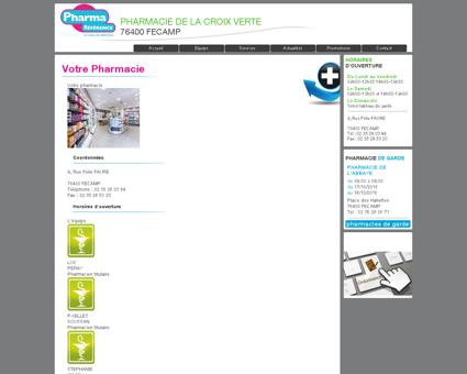 votre pharmacie | pharmacie de la croix verte -...