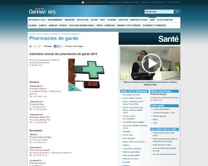 Pharmacies de garde |Gennevilliers : site officiel
