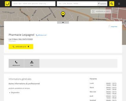 Pharmacie Lespagnol Fosses (adresse, horaires)
