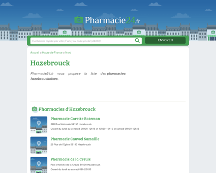 PHARMACIE HAZEBROUCK - PHARMACIES...
