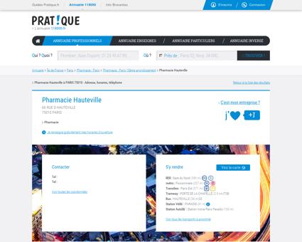 Pharmacie Hauteville à Paris 75010 (RUE D...