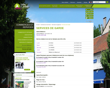 Services de Garde - Plateau d'Hauteville -...