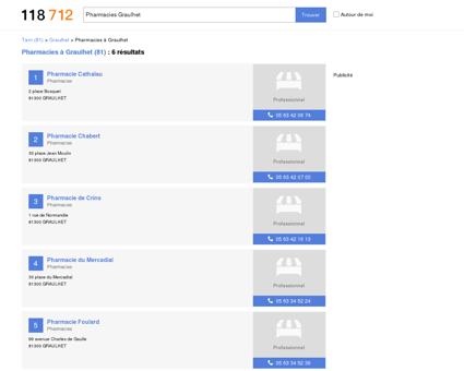 Pharmacies à Graulhet (81300)