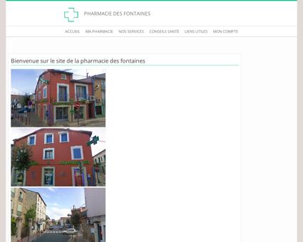 Pharmacie des Fontaines - Accueil
